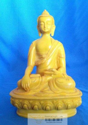 "8 "" New Hand made Fishbone Sakyamuni Buddha Statue from Nepal"
