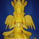 "Handmade Rare Fishbone 8"" Serpent Guardian Tantric Goddess Statue- Nag Kanya"