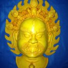 Rare Handmade Fishbone Tantric Mask Wall Hanging Bhairav,manifestation of Shiva
