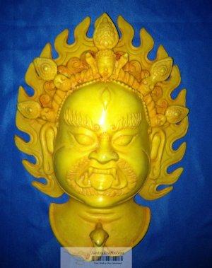 Rare Handmade Fishbone Tantric Mask Wall Hanging Bhairav,manifestation of Shiva