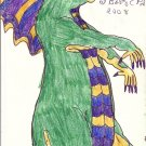 Signed Ink Drawing by Visionary Barry Paul: Alien outsider Art Brut #5