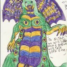 Signed Ink Drawing by Visionary Barry Paul: Alien outsider Art Brut #6