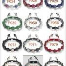 10MM European New white Crystal Hip Hop Disco Balls Macrame Bracelet Charm Beads