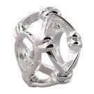 925 Sterling Silver Large Hole Charm Bead fits Pandora Bracelet JA68