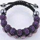 New 18X10MM Crystal stones Bead Pave Disco Ball bracelet Double Rows Macrame bracelet