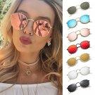 Mirrored Round Lens Oversized Sunglasses Eye Glasses