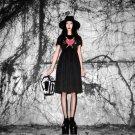Short Sleeve Summer Dress For Female Black