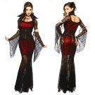 Sexy Witch Vampire Costume Women Masquerade Party Halloween Cosplay Costume 8836