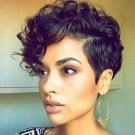 Pixie Cut Curly Natural Highlights Synthetic Hair Wig Hair Accessories
