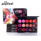 Lasting Pigment Gothic Style Black Purple 15 Color Lip Makeup Palette