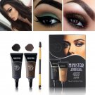 Black Brown Henna Eyebrow Gel Tint Long Lasting Eye Brow Tattoo Cream 2PCS Eyebrow shado