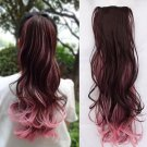 Pony Ombre Color Tail Extension Claw Hairs Accessories