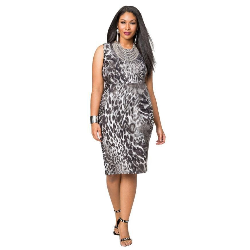 Summer Bandage Women Dress Sexy Leopard Printing Lady Mini Dress Plus Size Party Dress Large Size M~