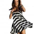 Fashionable Newest sundresses summer Women Summer Bandage Dress Girl Casual Stripe Beach Dress Sleev