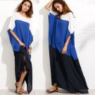 Women Vintage Summer Beach Long Cotton Dress 2017 Crew Neck Retro Kaftan Maxi Dresses Fashion Casual