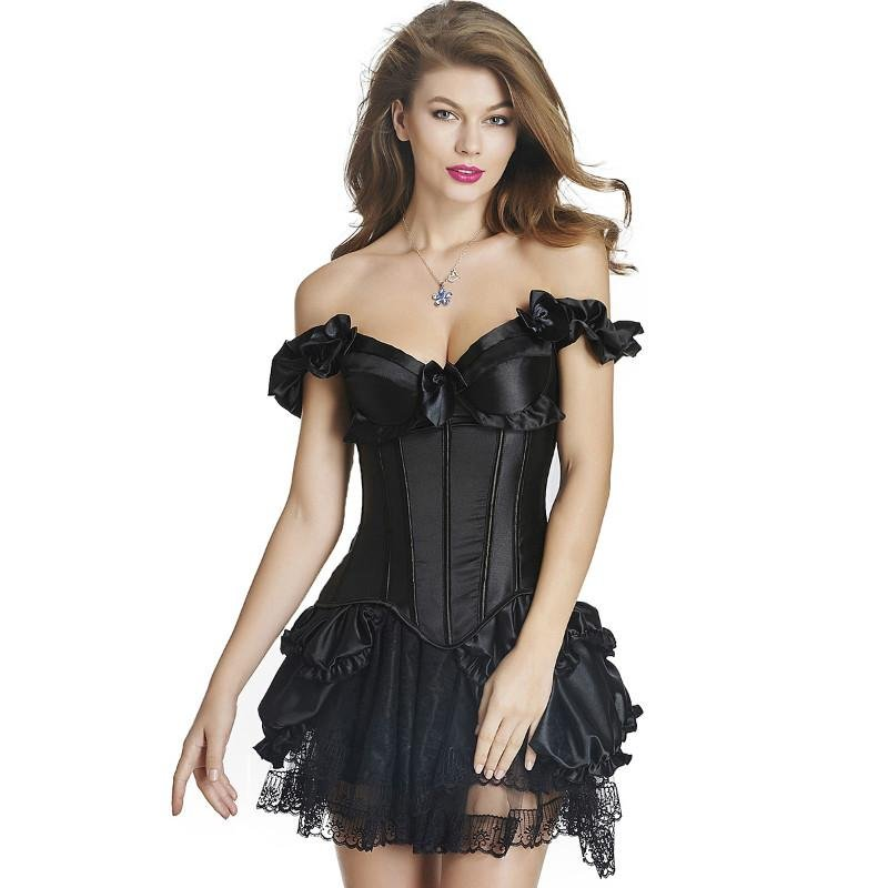 MOONIGHT Women Corsets Red Black Sexy Gothic Corsets Dress Women Corsets Hot Shapers Body Intimates