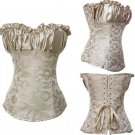 Sexy Grey Embroidered Zipper Vintage Corsets And Bustiers Slimming Body Shaper Corselet Overbust Got