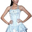 MOONIGHT Sexy Wedding Corset Tops Hatler Gothic Corsets Gothic Corselet Overbust Bustier with Beadin