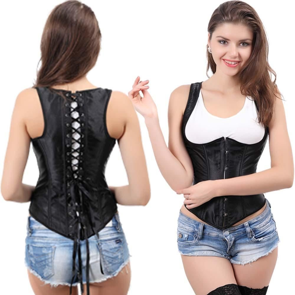 Hot sexy underbust women corsets tops Waist trainer steampunk corselet gothic Plus Size shaper body