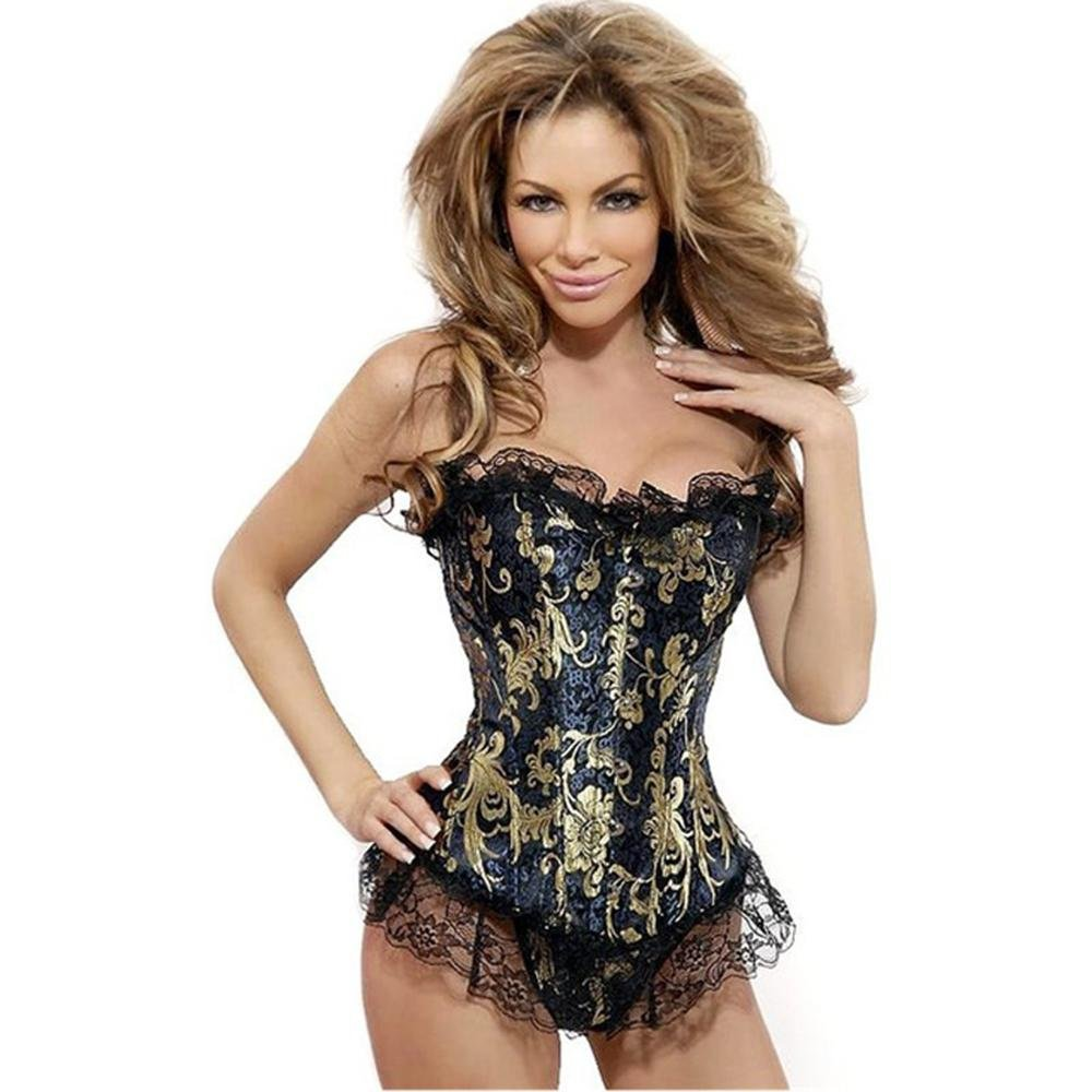 Wholesale Sexy Plus Size Strapless Burlesque Corsets And Bustiers Shapewear Gothic Steampunk Corsele