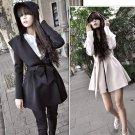 GZDL Winter Autumn Fashion Vintage Women Female Long Sleeve Hoode Tunic Loose Overcoat Women Trench