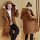 Oversized Winter Coat Women Parka 2017 Korean Style Hooded Lambswool Parkas Thicken Suede Leather Ou