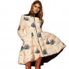 High Quality Winter Coat Women 20176 New Fashion White Duck Down Parka Print Winter Jacket Women Thi