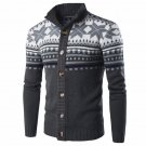 Autumn Winter Chic Knitted Sweater Cardigan Vintage Ethnic Style Mens Long Sleeve Buttons Down Sweat