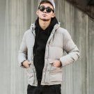 Retro Men\'s Hooded Jacket Bunches Korean Thicker Young Cotton Jacket Winter Cotton Coat Jacket Stud