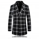 winter trench coat Men single Breasted Trench Coat Men Outerwear plaid Casual Coat Mens Jacket Windb