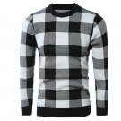 New Winter Classic Plaid Sweater Pullover Sweater For Mens Long Sleeve Foreign Hot Sweater Coat XM02