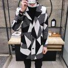 New 2017 winter england style fashion color blocked plaid woollen coat men plus size long trench coa