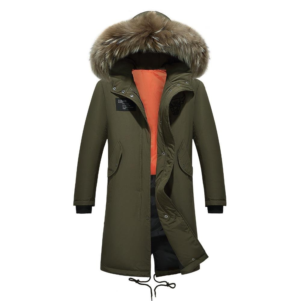 Parka Men Coats Winter Jacket Men Thicken Fur Hooded Outwear Warm Coat Top Brand Clothing Casual Men