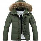 Winter Casual Canada Mens fur collar coat army green outwear coats man jacket ropa hombre winter jac