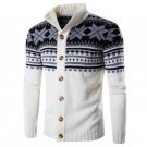New Autumn Winter 2017 Mens Sweater Cardigan Vintage Ethnic Style Casual Long Sleeve Knitted Sweater