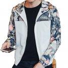 Floral Bomber Jacket Men Hip Hop Slim Fit Flowers Pilot Bomber Jacket Coat Men\'s Hooded Jackets Plu