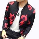 Jackets Men 2016 Autumn New Fashion Trend Men Flower Jacket Simple Stylish Slim Fit Coats Men Outwea
