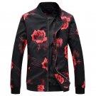 Fashion New Men Jacket and Coats 2017 Hip Hop Flower Print Jaqueta Masculino Casual Men Jacket Coats