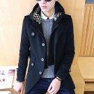 Double Wool Coat Long Beige Trench Hooded Men Flower Jacket Plus Size Camouflage Sweater Man Casual