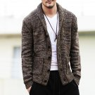 Mens sweaters V neck winter Cardigan Knitwear Slim Casual Lapel Single-Breasted 2016 fashion autumn