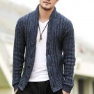2016 NEW Men\'s cotton Sweater Slim wool Cardigans knitted coat open stitch V-Neck Long Sleeve Fashi