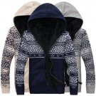 Fashion Men\'s Sweaters Coats Cotton Long Sleeve Mens Winter Sweaters Hooded Knitted Casual Sweaters