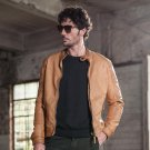 Autumn Moto Vintage Mens Jackets Coat Motorcycle PU Male Leather Jacket Men Casual Stand Collar Slim