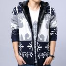 New Arrival Brand Men\'s Thick Warm Christmas Sweater Male Casual Zipper Hooded Cardigan Winter Wear