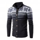 Autumn Winter Male Sweater Snowflake Cardigan Coat Mens Casual Brand High Quality Clothing Knitted S