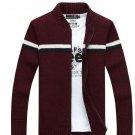 autumn and winter latest  men\'s thick coat zipper cardigan sweater Battlefield Jeep men\'s fashion