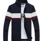 New Brand Clothing Winter Sweater Men Striped Cotton Stand Collar Cardigan Men Sweater Coat 70wy