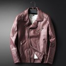 New Autumn leather jackets Men Top quality zipper decoration fashion motorcycle leather jackets coat