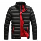 Winter Men Warm Down Coat Long Sleeve Stand Collar Soft Warm Jacket Casual Zipper Windproof Slim Par