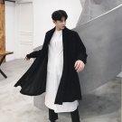 Cardigan Coat Men Long Knitted Sweater Jacket Male Fashion Casual Punk Loose Knitwear Overcoat